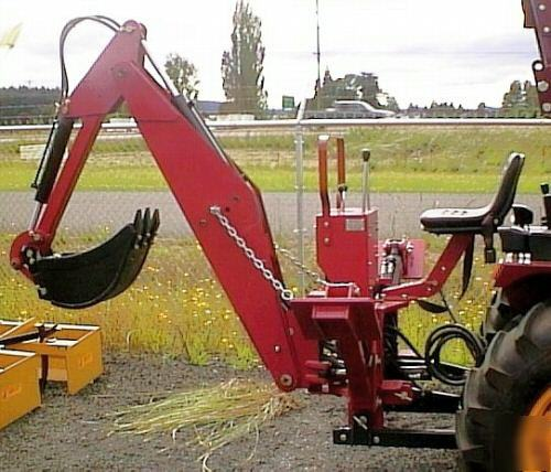 6' dig compact tractor backhoe lw-6 cat 1 3PT