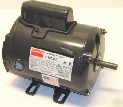 Dayton capacitor start fan motor 1 2 hp 1ph 3450 rpm for Dayton capacitor start motor
