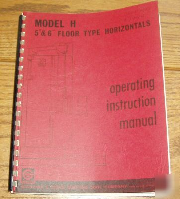giddings and lewis boring mill manual