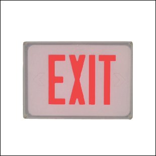 New wet location exit sign / , E3WR