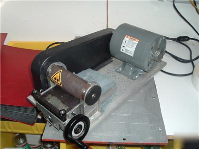 Habasit belt grinder skiver. model a-100 with motor