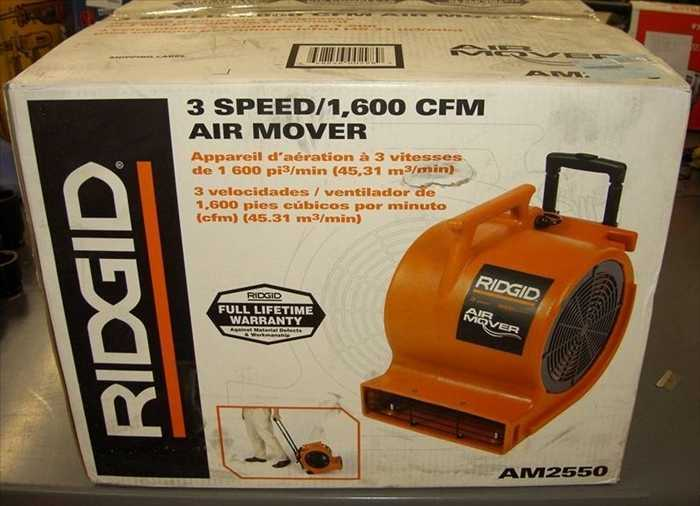 New ridgid 3 speed/1,600 cfm air mover AM2550