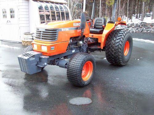 Kubota M4700 Utility Special Tractor : Nice kubota m hp diesel tractor turf tires