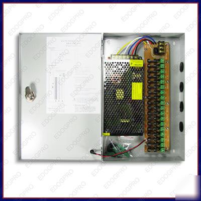 18 ch 12a dvr power supply box cctv camera fuse dc 12v 120vac fuse box
