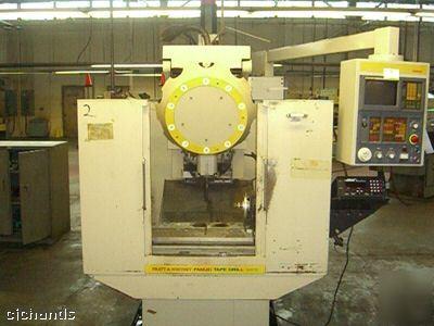 Pratt & whitney 4 axis cnc mill milling fanuc 0M, 10ATC