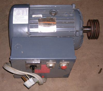 10 hp single phase electric motor w contactor fwd rev