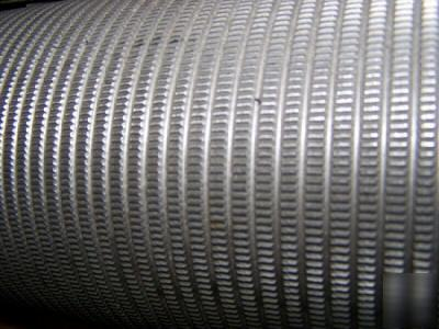 Stainless Steel Knurled Rubber Belt Conveyor Roller