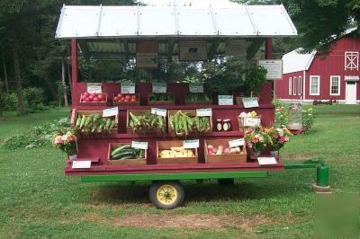 Farm Stand Vegetable Wagon
