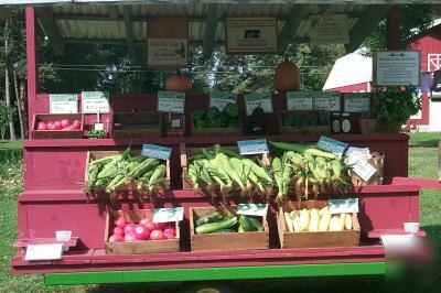 Farm Stand Vegetable Wagon